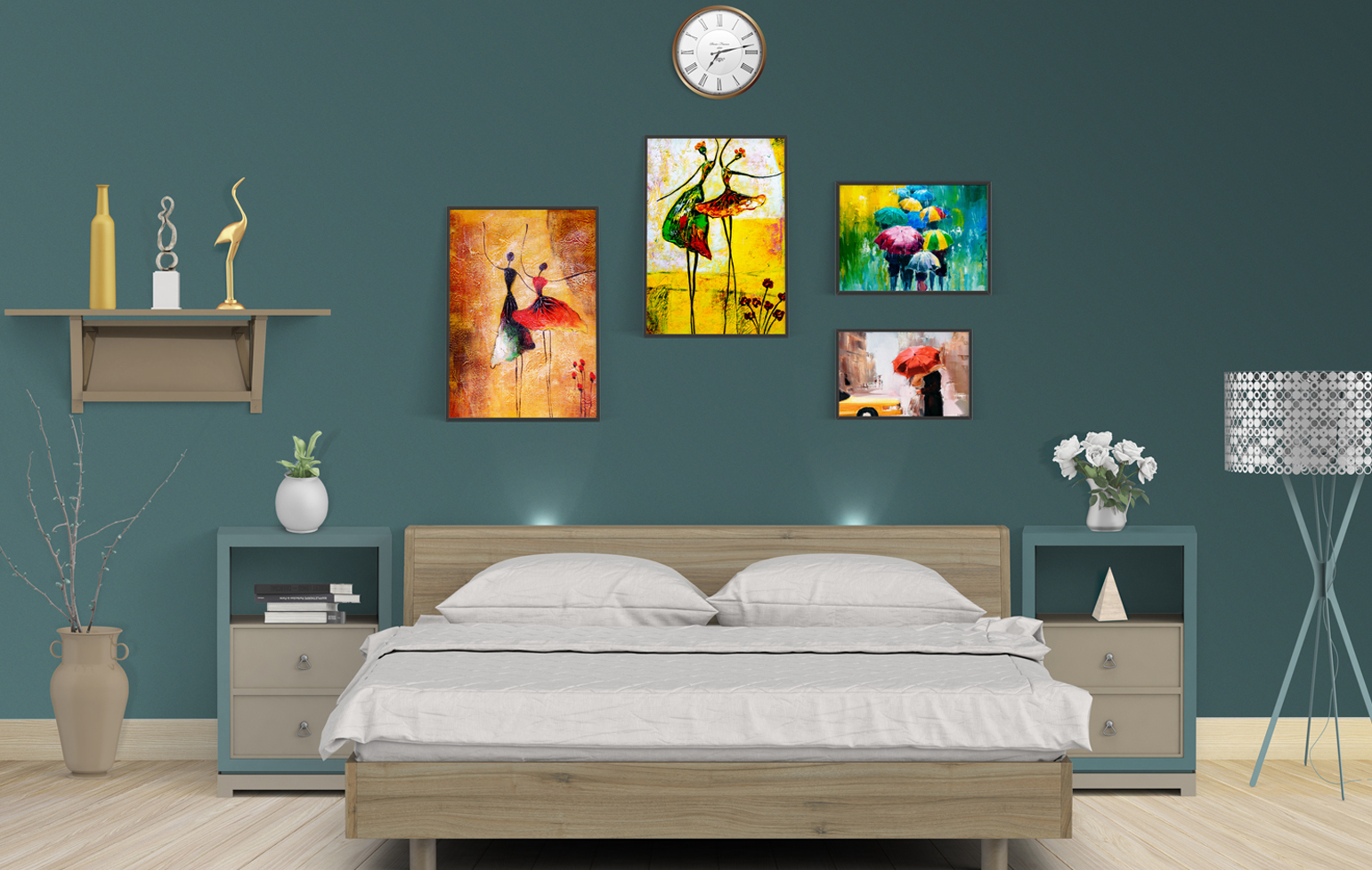 Hang Pictures, paintings and clocks using KLAPiT