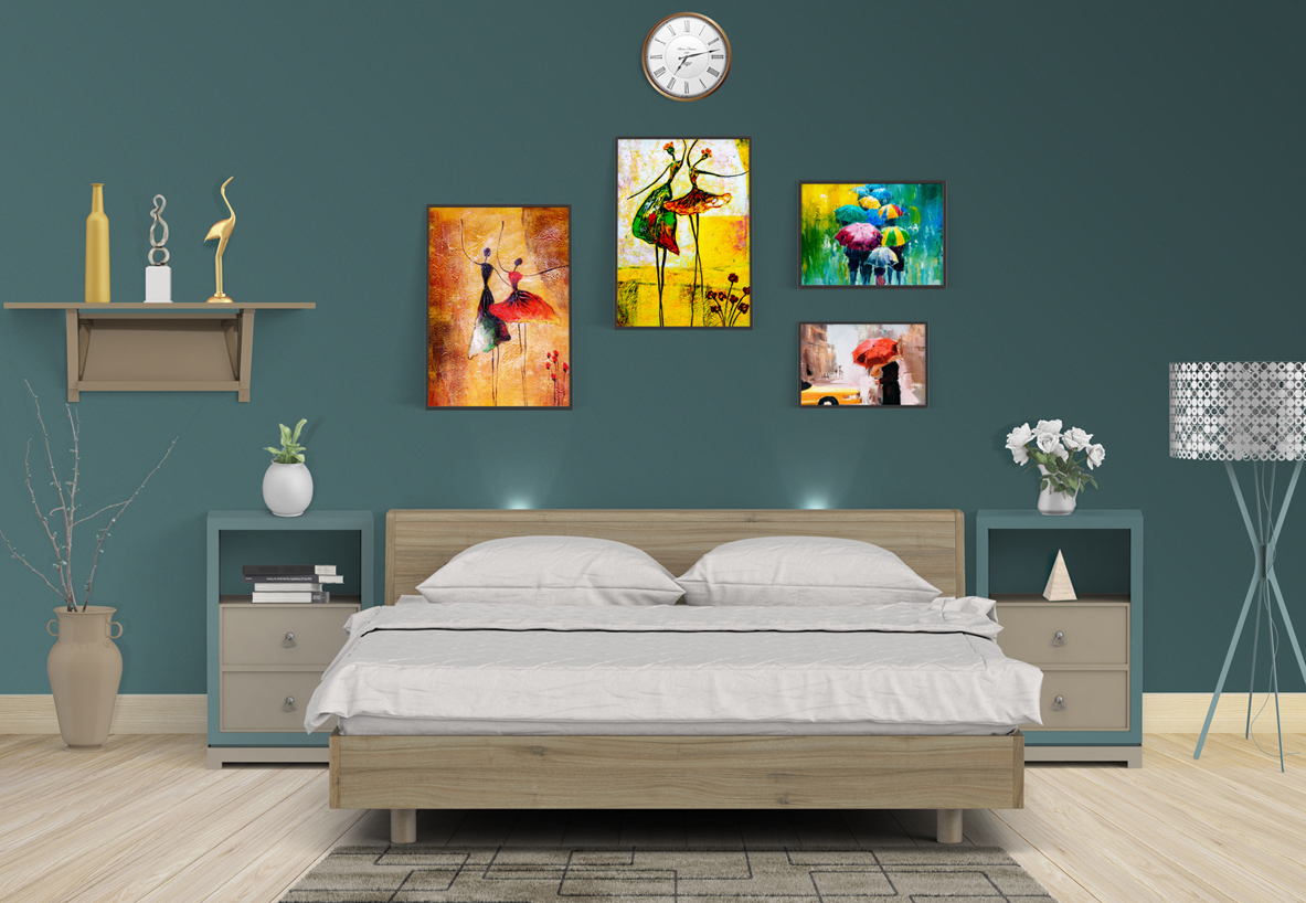 Create beautiful walls by mixing small and large picture frames without any drill or damage