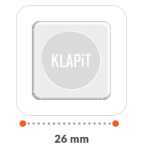 KLAPiT is small and yet very strong. 1 sq inch of KLAPiT can hold a weight of up to 500g
