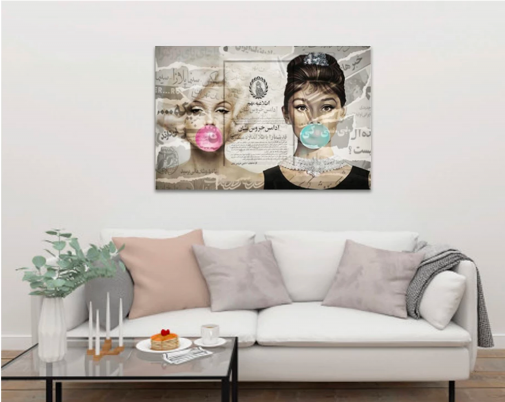You can hang paintings without drilling or damaging walls by using KLAPiT