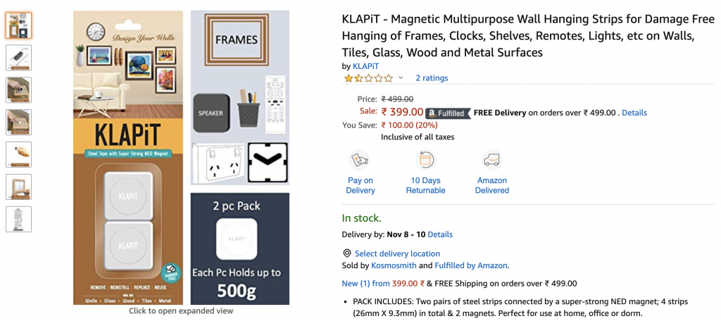 Shop Online for KLAPiT in India on Amazon