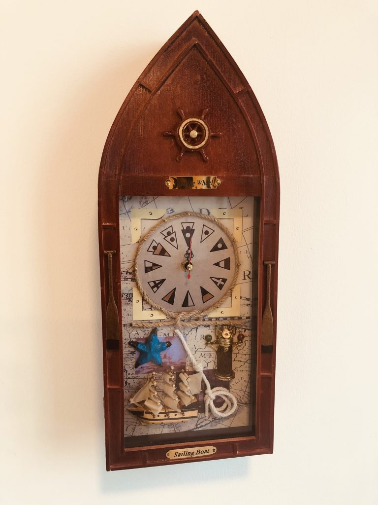 How to hang a clock without nails or screws