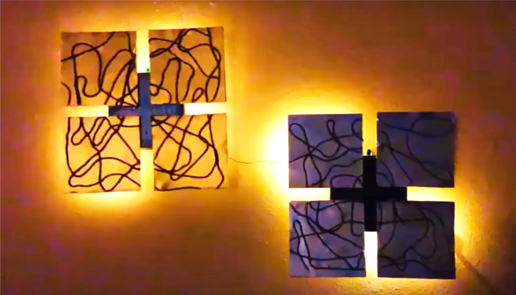 Create this beautiful backlit 3D Modern Art for your home