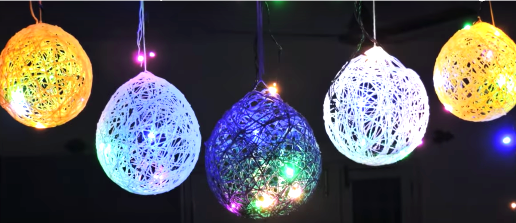 diy, DIY Project, Colorful Ball Decorative Lights, do it yourself, interior design, home decor, interior decor, wall decor, art, creativity, creative project, hobby, summer project, holiday project, art project, home decoration, interior decoration, home decoration ideas, simple DIY, easy DIY project, DIY project with material, DIY project idea, Hobby ideas, home art, art for home