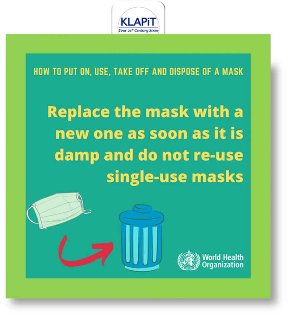 What to do with the used mask