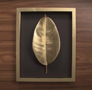 DIY Gold Leaf Wall Hanging
