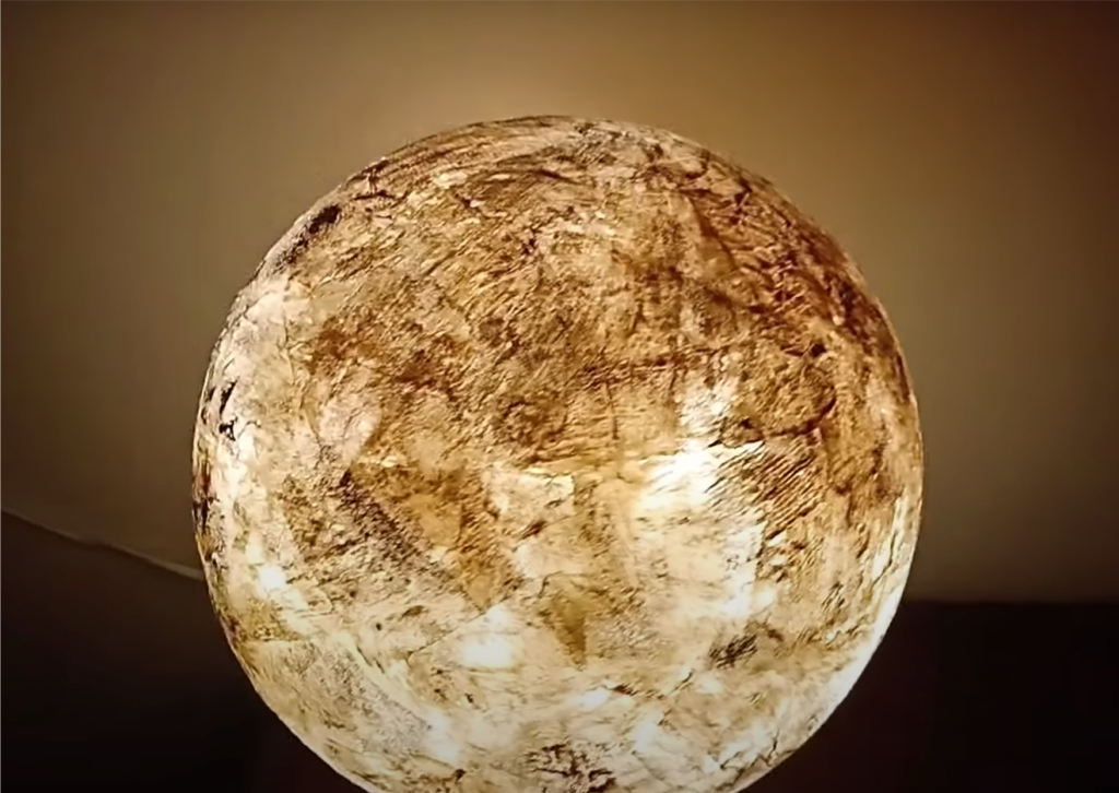 Create this Moonlight table lamp with the DIY video