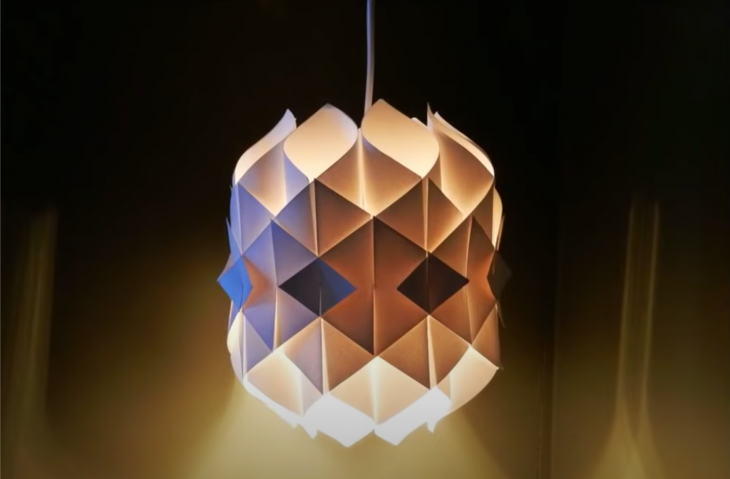 Create this beautiful pendant lantern lamp by yourself at homw