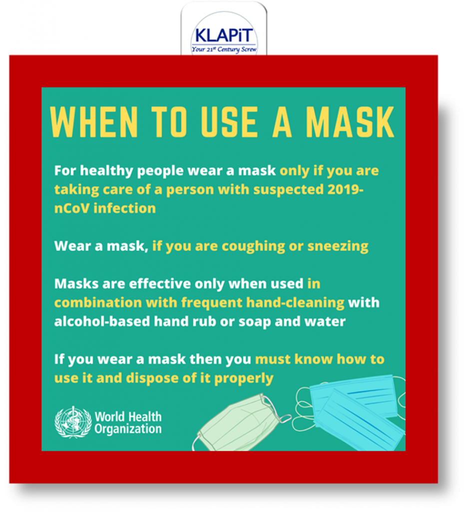 Using Mask for prevention against COVID-19