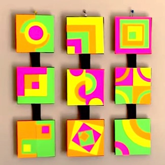 DIY Project - 3D Abstract Art Wall Decor. Do it yourself