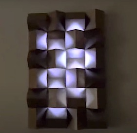 DIY Project - City Lights Wall Decor. Do it yourself project