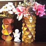 DIY Project - Golden Flower Vase. Do it yourself project