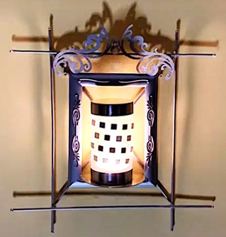 DIY Project - Heritage Wall Lamp. Do it yourself project