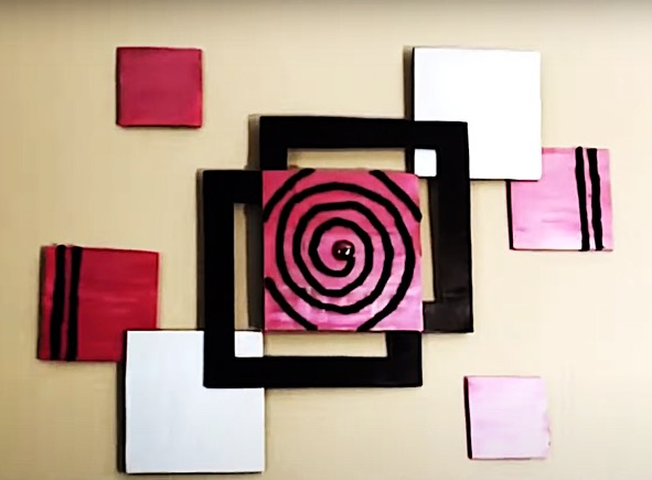 DIY Project - Magical Squares Wall Decor. Do it yourself project
