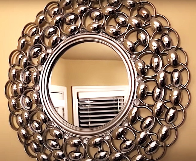DIY Project - Silver Decorative Wall Mirror. Do it yourself project