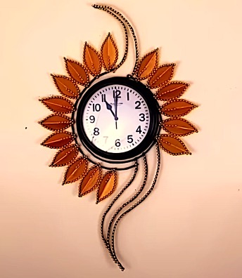 DIY Project - Sunflower Clock. Do it yourself