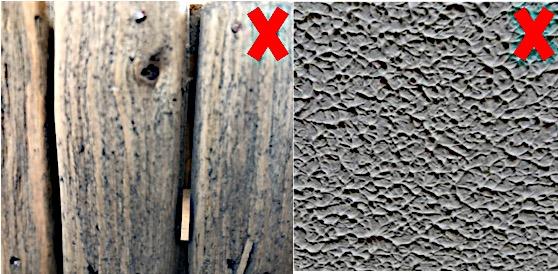 Use KLAPiT, don't use KLAPiT, uneven surfaces, raw wood