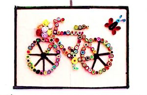 DIY, Bicycle, Beautiful, Art, Wall Art, DIY Project, Do it yourself, interior design, home decor, interior decor, wall decor, art, creativity, creative project, hobby, summer project, holiday project, art project, home decoration, interior decoration, home decoration ideas, simple DIY, easy DIY project, DIY project with material, DIY project idea, Hobby ideas, home art, art for home