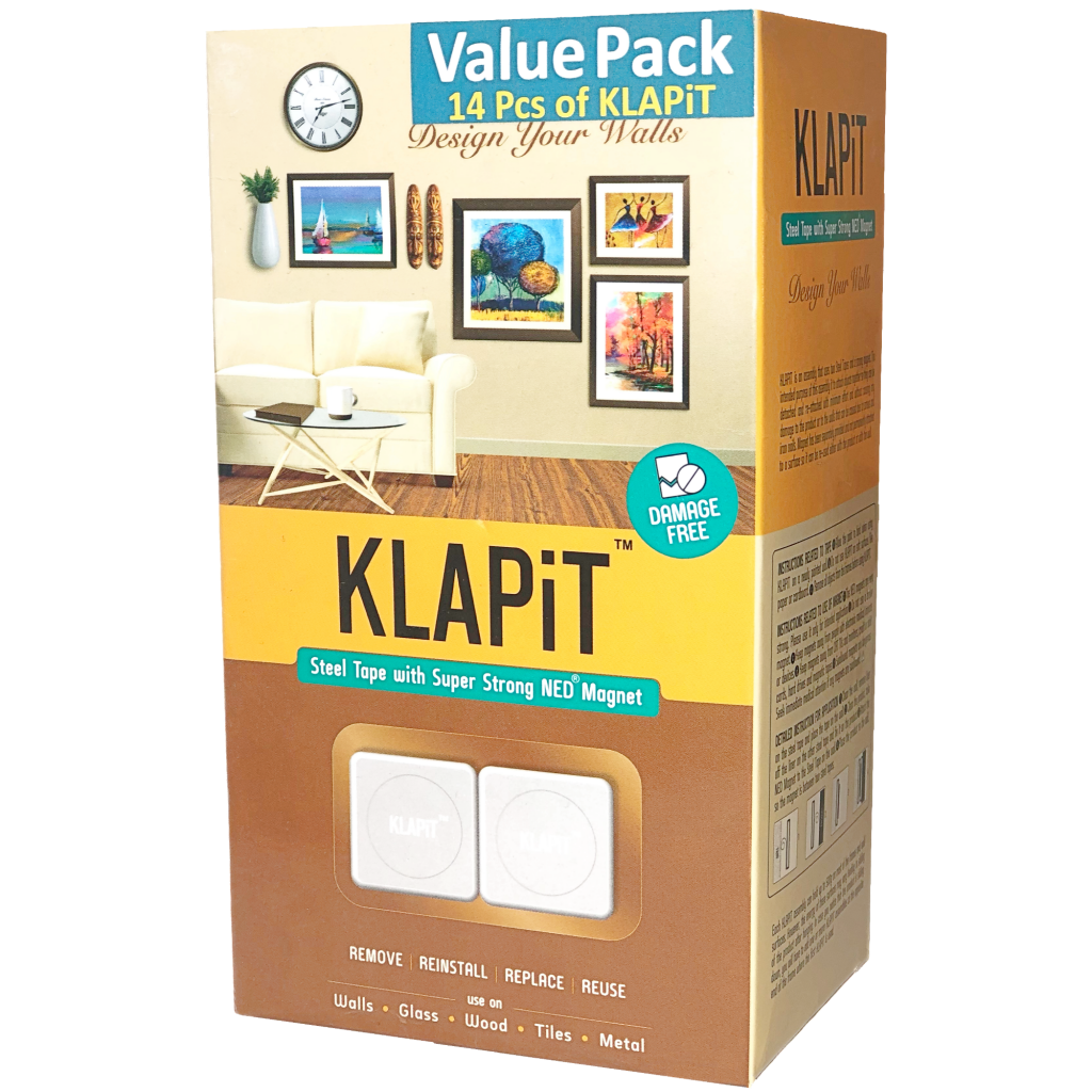 KLAPiT, Picture Hanging Tool, Picture hanging kit, picture hanging strips, picture hanging hardware
