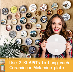 How to hang Wall Plates, how to hang plaques, picture hanging strips, hang ceramic plates, hang wood plates, hang wood plaques, hang metal plates, Picture Hanging, Photo hanging, Gallery wall, Steps to hang a picture, how to hang a picture, Gallery wall, DIY, Do it yourself, double-sided tape, better than double-sided tape, best double-sided tape