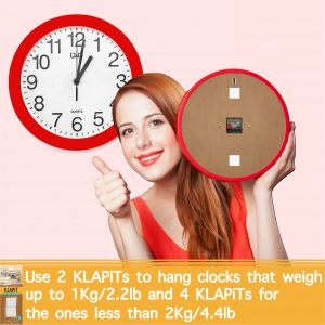 how to hang clocks, how to hang a clock, picture hanging strips, hang clocks