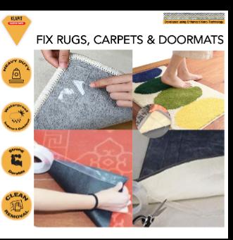 double sided tape, mats, fix mats, how to fix bathroom mat